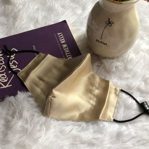 Accessories - Washable Pure Silk Gold Face Cover with 7 Filters
